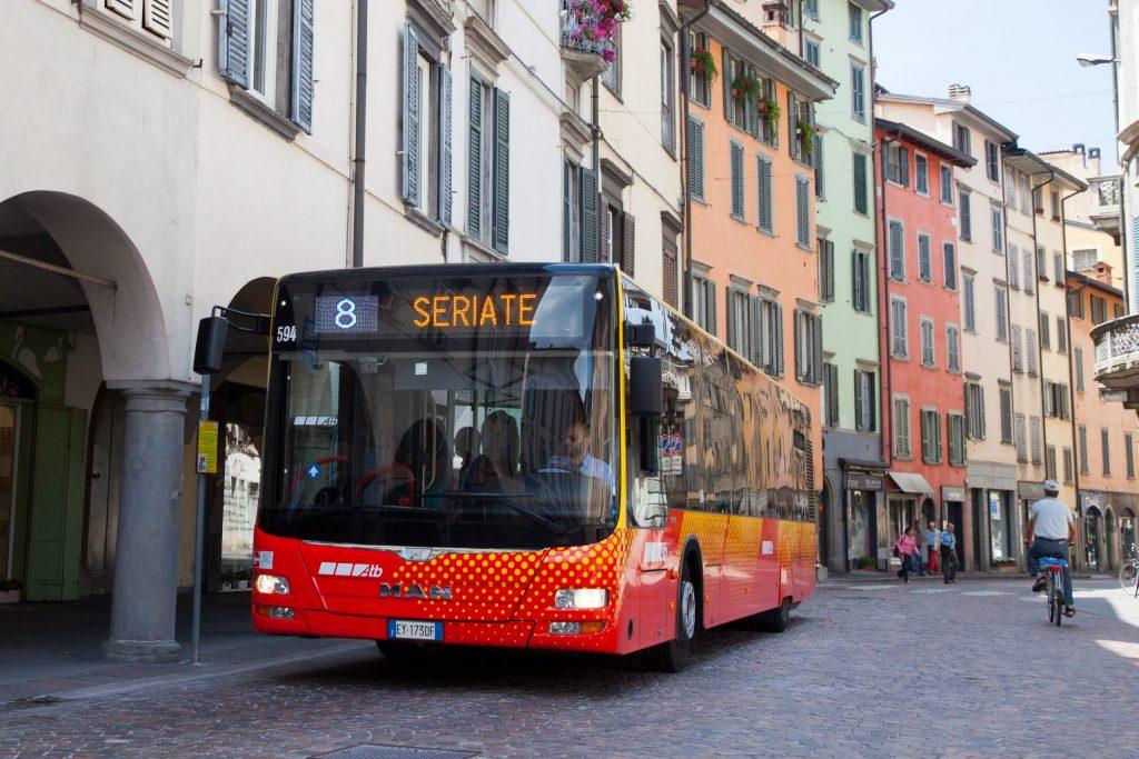 Bus of public transport company ATB, a member of ASSTRA